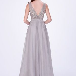 Women Elegant V Neck Sleeveless Evening Dresses